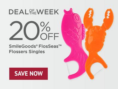 Deal of the Week - Save 20% on SmileGoods FlosSeas Flossers Singles