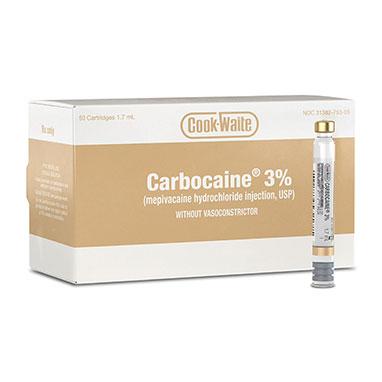 Cook-Waite Carbocaine 3% 1.7ml Anesthetic