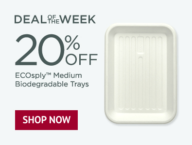 Deal of the Week - 20% Off Ecosply Biodegradable Trays