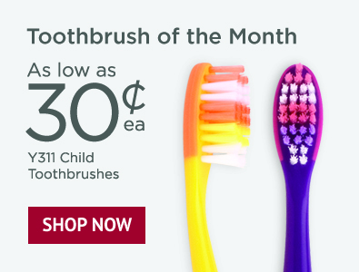 Toothbrush of the Month - SmileGoods Y311 Child Toothbrushes