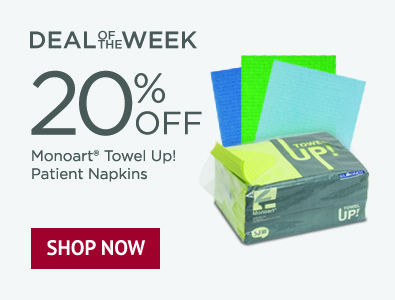 Deal of the Week - 20% Off Monoart Towel Up Patient Napkins