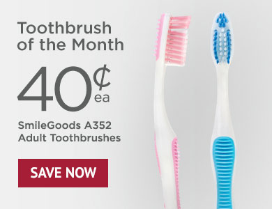 Toothbrush of the Month - SmileGoods A352 Adult Toothbrushes