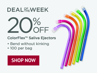 Deal of the Week - 20% Off Colorflex Disposable Saliva Ejectors - 100 Pack