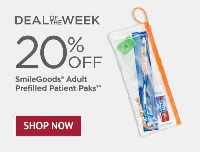 Deal of the Week - 20% Off SmileGoods Adult Patient Paks