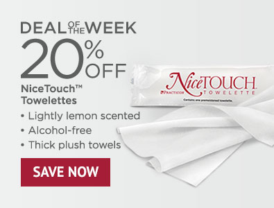 Deal of the Week - 20% Off NiceTOUCH Towelettes Bulk Case