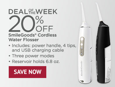 Deal of the Week - 20% Off SmileGoods Cordless Water Flosser