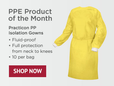 PPE Product - Practicon PP Isolation Gowns