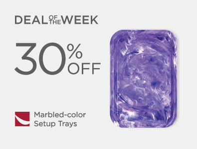 Deal of the Week - Marbled-Color Setup Trays