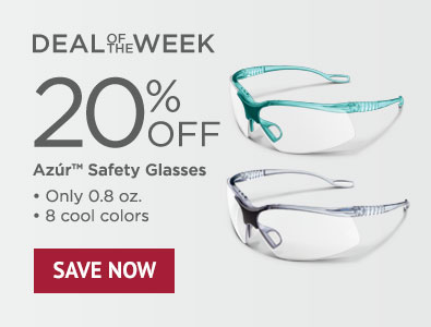 Deal of the Week - Save 20% on Azur Safety Glasses