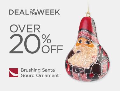 Deal of the Week - Brushing Santa Gourd Ornamnet
